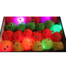 2018 Gafas Led Para party Led Glowing Bouncy Ball Multicolor Soft Safe Material Eco-friendly Toys Okystar Party Birthday Gift