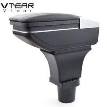 Vtear для Ford Ka + плюс подлокотник коробка центральный магазин содержание коробка для хранения интерьер автомобиля-Стайлинг украшения аксессуары Запчасти 15-19