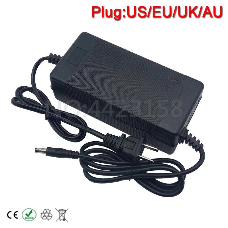 48V 2A Battery Charger Output 54.6V 2A Charger Input 100-240 VAC Lithium Li-ion Li-poly Charger For 13Series 48V Electric Bike