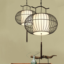 Chinese Wood Led Pendant Lamps Restaurant Pendant Lights Iron Cage Lamp Pendant Lights Hotel Hanglamp Birdcage Kitchen Fixtures jentinsun new iron birdcage pendant lights lamp loft vintage wrought iron cage pendant light hanging lamps for villa restaurant
