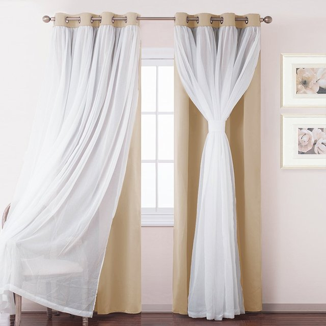 Hot Koop Windows Wit Sheer Voile Verduisterende Gordijnen Chrome ...