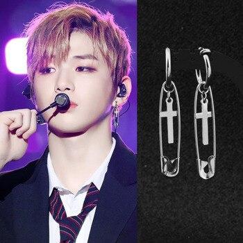 kang daniel Cross Pin Stud Earring