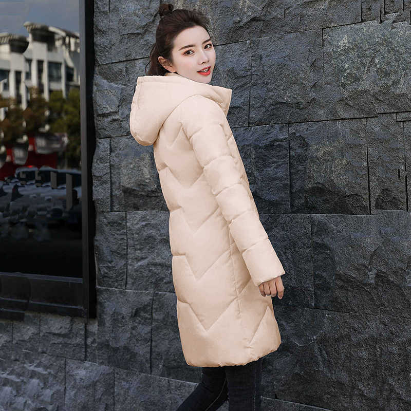 Kış Ceket Kadınlar Için 2019 Yeni Moda Beyaz Ceket Kadın Ceketler Kadın Kış Ceket Kapşonlu İnce Kadın Parkas Sıcak Dış Giyim