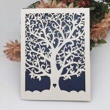 20 шт./лот Loveheart дерево жемчуг бумага карты для свадебные приглашения свадьба день рождения партии Пригласительные открытки