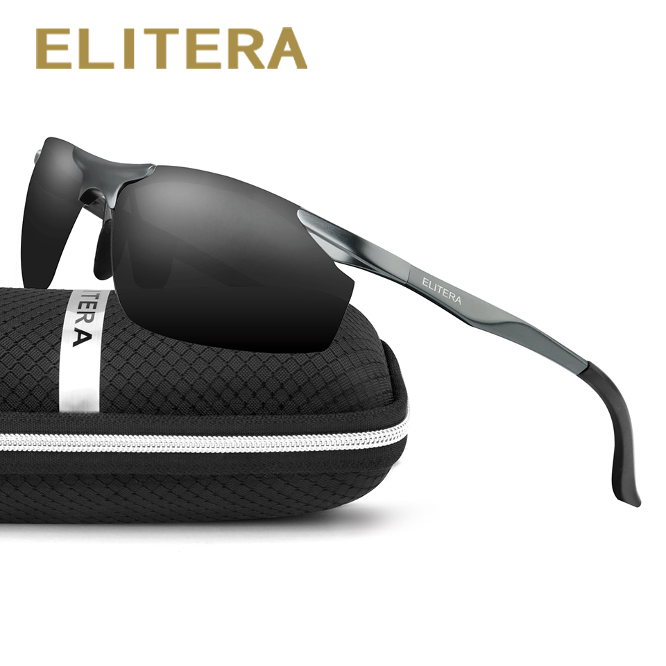 ELITERA Aluminium HD Polarized Sunglasses Lelaki Designer jenama baru memandu Eyewear sunglass E8179