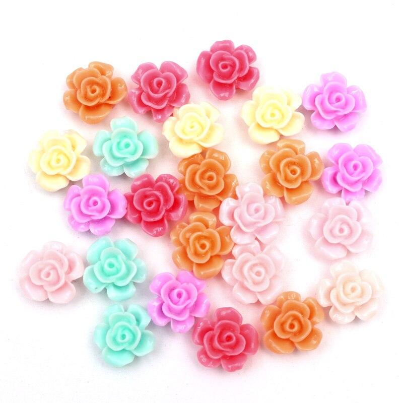 50 шт. мм 15 мм смешанный резиновый цветок украшения Kawaii бисера Flatback кабошон магнит на холодильник Альбом DIY интимные аксессуары пуговицы