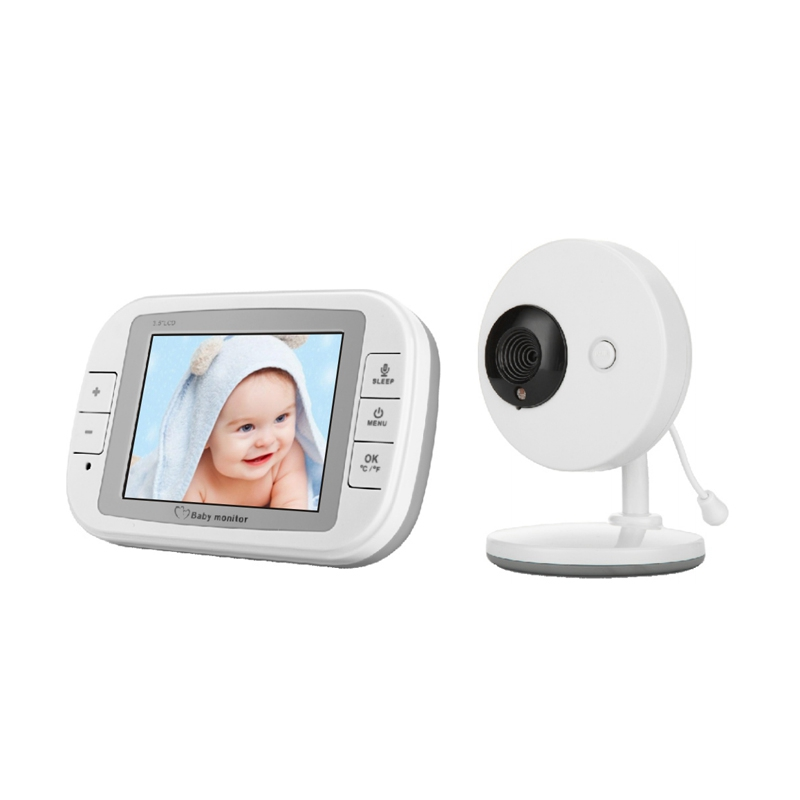 3.5 Inch 2.4GHz Wireless Baby Monitor TFT LCD Video Night Vision 2-way Audio Camera Digital Support Music Display IP Camera 3 5 inch tft led audio video security tester cctv camera monitor