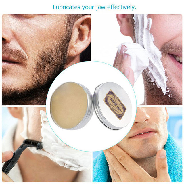 1 Pcs Shaving Cream Deluxe Men's Round Facial Goat Milk Beard Shaving Cream Barbering Shave Tool Shaving Soap 1