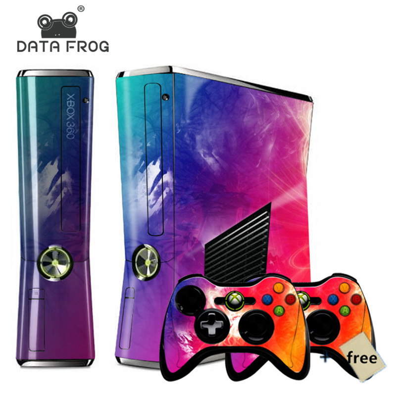 Til XBOX360 Slim Mange Design Hot Colorful Star Pattern Stickers Konsol Sticker For Xbox 360 Controller Skin Sticker TOP Kvalitet