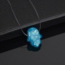 Сине-белый кристалл, полимерный опал, рука Хамса, невидимая Рыбная линия, ожерелье, подвеска Фатима, ожерелье для женщин, колье, ювелирное изделие, колье