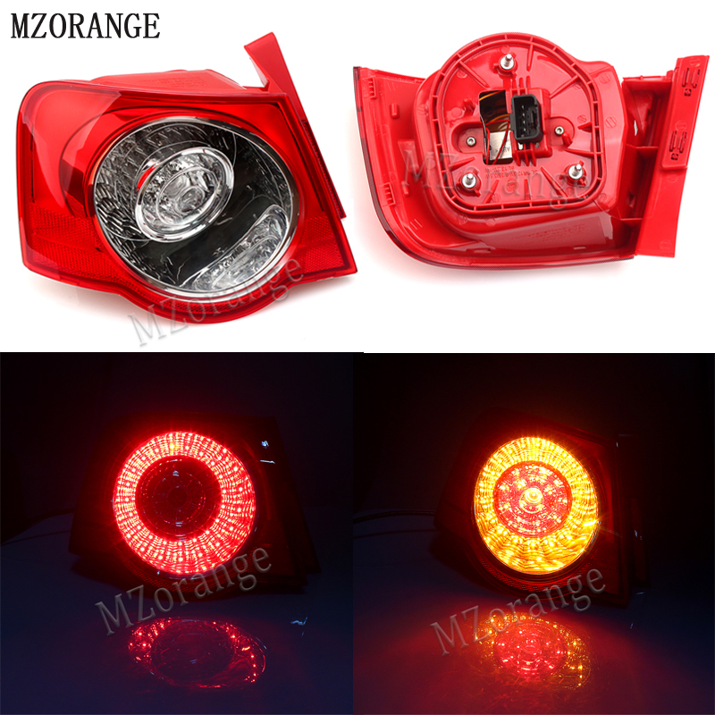 MZORANGE Car LED Light For VW Passat B6 Sendan 2006 2007 2008 2009 2010 2011 Car-Styling Rear Tail Light Lamp Left/Right Outer red left right car rear side tail light brake lamp light for toyota hilux 2005 2006 2007 2008 2009 2010 2015 lh rh