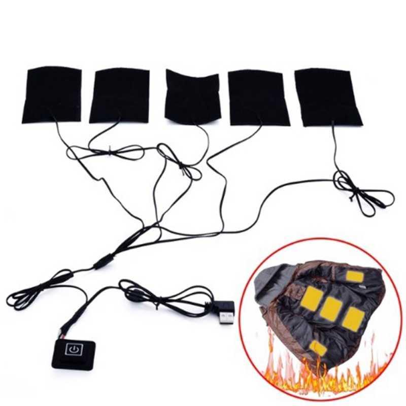 USB грелка для перчаток с подогревом одежда теплая паста коврик Регулируемый третий передач коврик лист нагреватель для теплой женской одежды