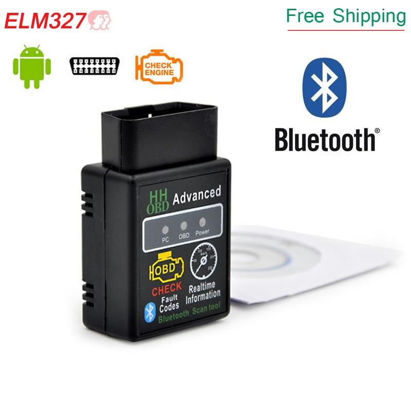 2018 Latest  super mini elm327 bluetooth v1.5 OBD2 Scanner HH ELM 327 Bluetooth Smart Car Diagnostic Interface ELM 327 V2.1