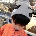 Crianças Bonito Big Piscar Dos Cílios Padrão Crianças Chapéus Moda Gorros De Lã de Inverno para As Meninas Meninos Enfant Gorro Crianças Caps H767