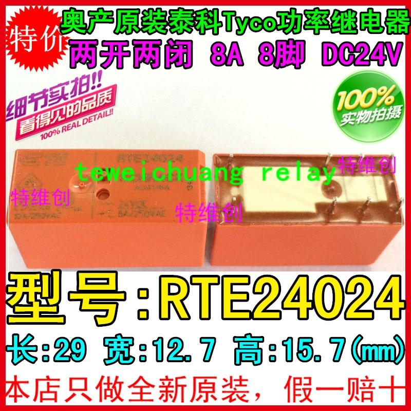 frete gratis 100 novo rele originais 10 pcs lote rte24024 24 v 8a 8pin