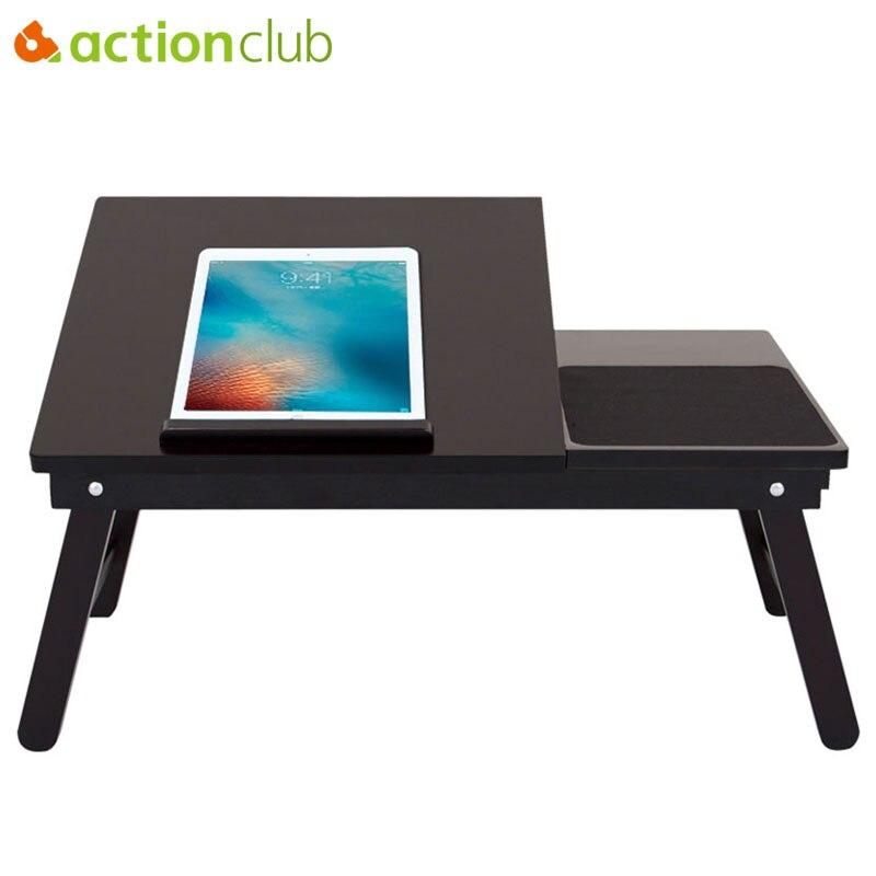 Actionclub/Высокое качество деревянный стол ноутбук многофункциональный домашний компьютерный стол студенты общежития кровати складные столы ...