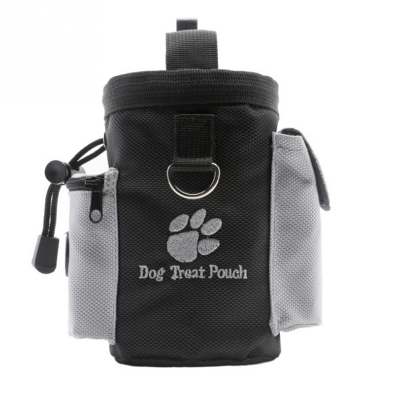 Dog Pet Puppy Obedience Agility Bait Training Food Treat Pouch Bag Built-In Poop Bag Dispenser Snack Reward Waist Bag