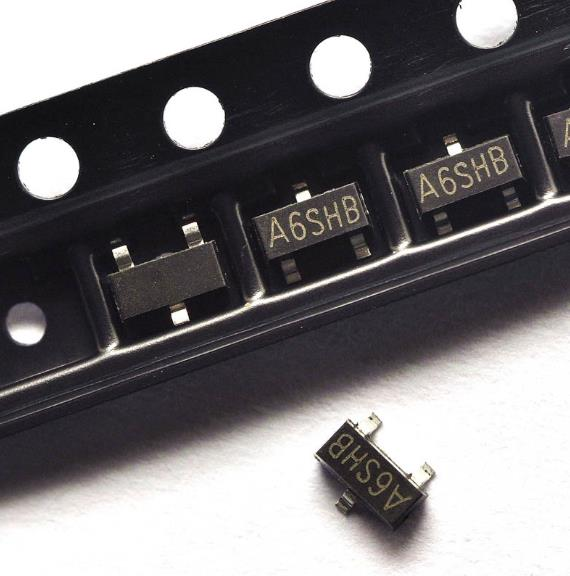 100pcs/lot <font><b>SI2306</b></font> A6SHB 3.5A/30V SOT23 Plastic-Encapsulate MOSFETS In Stock image