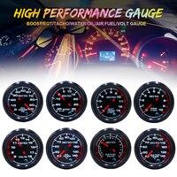 LED Digital Display Car Gauge 52mm EXT temp/Air Fuel/Volts/Oil press/Oil Temp/Water temp/Boost/Tachometer Gauge Aluminum 7 Color