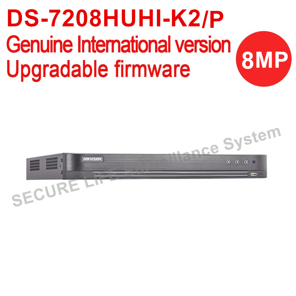 Version internationale DS-7208HUHI-K2/P turbo HD DVR 8ch 2 sata ports 8MP Auto-adaptatif HDTVI/HDCVI/ AHD/CVBS signal d'entrée H.265 +