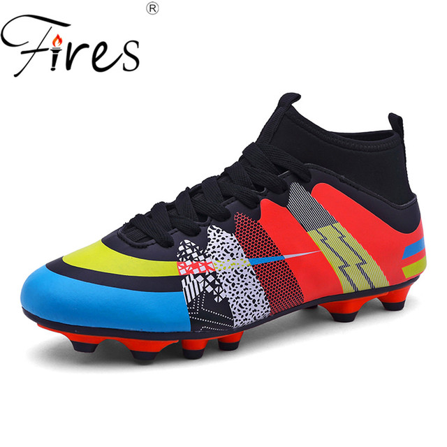 4a496a4ba Fires Brand Soccer Boots\Shoes Sports For Man Indoor Football shoes\Boot  size 35-45 Eur 3 Color PU Boy Sneakers Men chuteiras