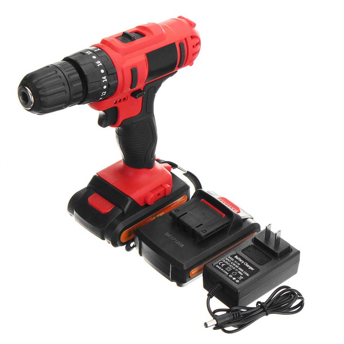 21V Cordless Rechargeable Screwdriver Li ion Torque Drill Mini Electric Screwdriver Home Waterproof Power Tools 21v battery screwdriver electric mini cordless two speed charged drill power tools impact li ion screwdriver drille