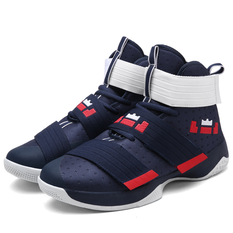 2018 Professional Basketball Shoes Lebron James High Top Gym Trainer Boots Ankle Boots Outdoor Men Sneakers Athletic Sport Shoes