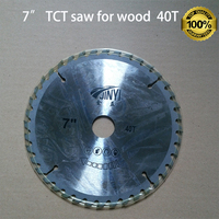 TCT saw blade 7 inch 180mm 40teeth with core hole 25mm for wood working from professional company at good price fast delivery