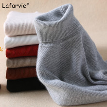 Lafarvie High Quality Slim Women Sweater New Turtleneck Pullover Winter Tops Solid Cashmere Autumn Female Hot