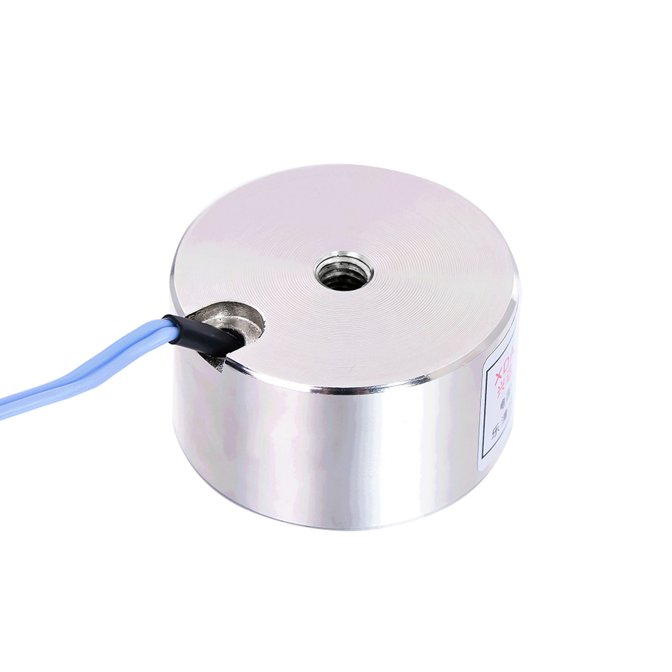 YJ-50/27 Holding Electric Sucker Electromagnet Magnet Dc 12V 24V Suction-cup Cylindrical Lifting 80KG Gallium Metal China