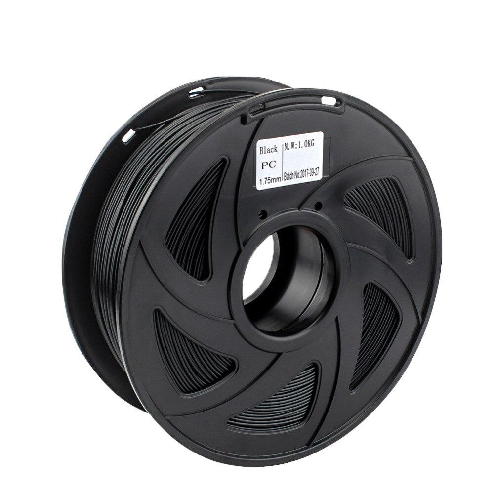 Creozone Premium Qualität Pc Filament Für 3d Drucker Polycarbonat Filamento Starke Thermoplastische Temperatur-widerstand Schwarz