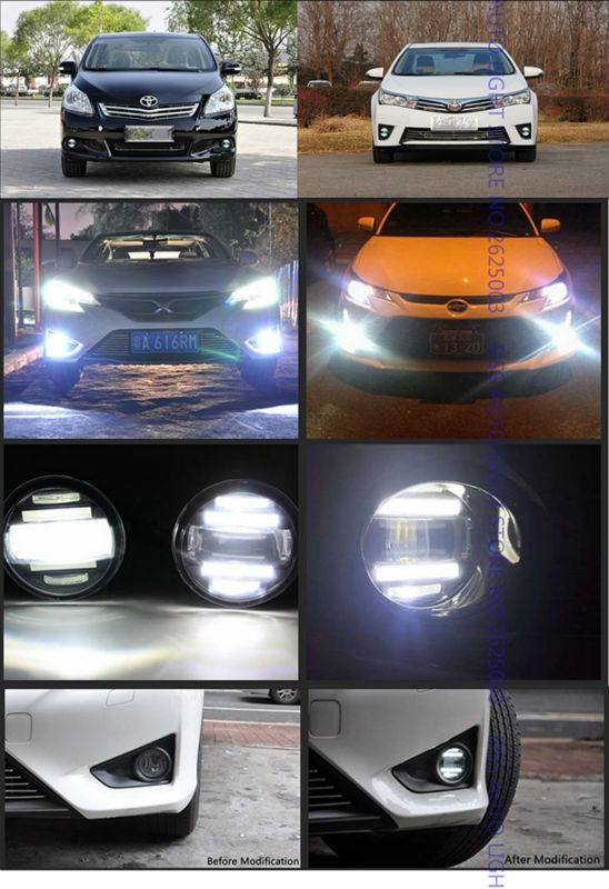 LED Fog Light with Daytime Running Light DRL Front Fog Lamps for Lexus IS-F IS250 IS350 GS350 GS460 GS450h CT200h ES300h ES350 LX570 HS250h RX350 RX450h Scion xA (16)
