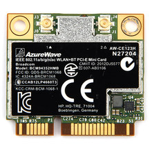 AzureWave Broadcom BCM94352HMB 802.11ac 867 Mbps sans fil-AC WLAN + Bluetooth BT 4.0 demi Mini PCI-E sans fil carte Wifi AW-CE123H(China)