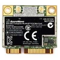 AzureWave Broadcom BCM94352HMB 802.11ac 867Mbps Wireless AC WLAN+Bluetooth BT 4.0 Half Mini PCI E Wireless Wifi card AW CE123H