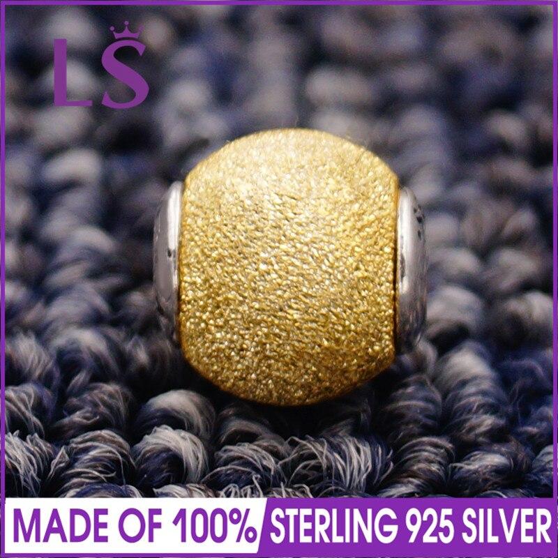 LS High Quality 100% S925 Silver Essence Sensitivity Charm Beads Fit Original Essence Bracelets Pulseira Essencia. Fine Jewlery