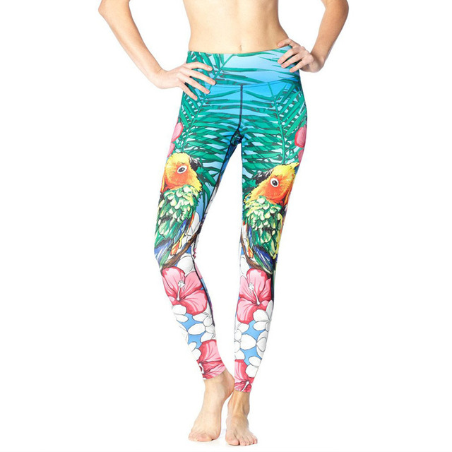 Drop Shipping Women Fitness Leggings Fashion 3D Styles Eagle Rock Love Birds Digital Printing 6 Colors Pants Legging For Women