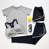 Verzy Large Size 4XL Yoga Suit Women Sport Sets Fitness Jogging Jumpsuit Gym Running T Shirt