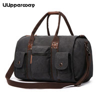 2018 NEW Large Capacity Travel Duffle Bags Canvas Travel Bags Weekend Shoulder Bags Multi pockets Top Handle Overnight Tote Bags