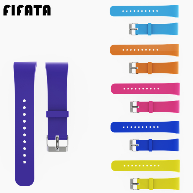 FIFATA For Samsung Gear Fit2 <font><b>R360</b></font> Soft Silicone Watch Band Sport Strap Replacement Bracelet Wristband For Samsung Gear Fit 2 image