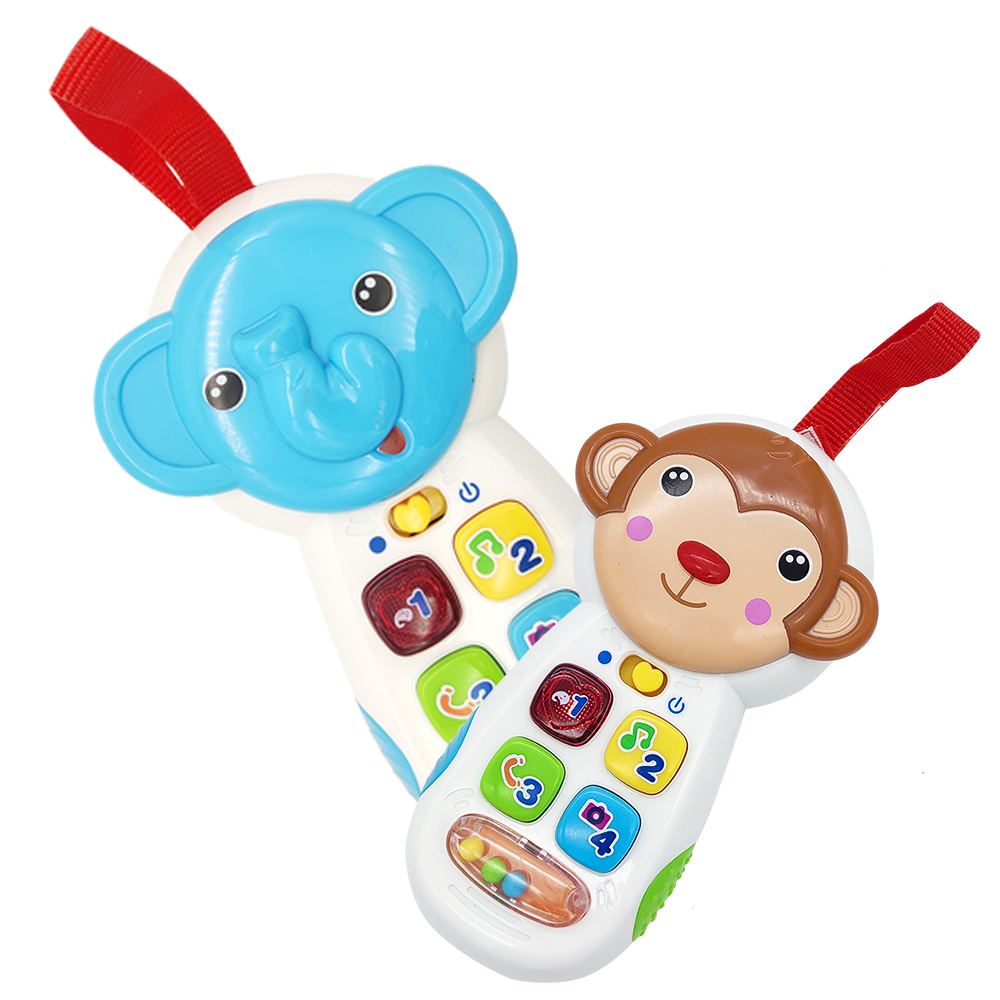 TOT Kids Lighting Music Animal Toy Mobile Phone Education Interactive GOOD QUALITY Baby Electronic Organ Toy Gifts