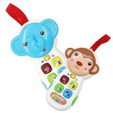 Tot дети освещение музыка Животное Игрушечный мобильный телефон