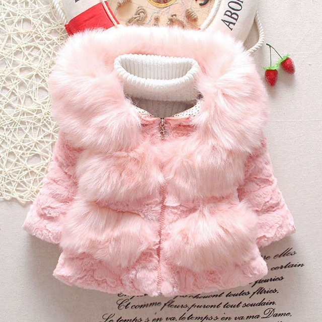 565ef311a509 Warm Winter Baby Girls Infant Kids Faux Fur Fleece Thicken Velvet ...