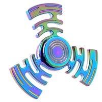 New Style Multicolor Maze Metal Fidget Spinner Hand Spinner Finger Spinner Stress Wheel Tri Spinner Fidget