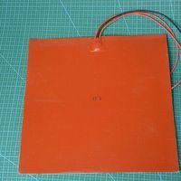 Funssor 12V 300W Square Silicone Rubber Heater Mat 300 X 300mm For Reprap 3D Printer Silicone