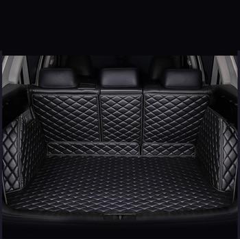 цена на HeXinYan Custom Car Trunk Mats for Mercedes Benz all models C ML GLA CLA R A B GLE GL GLS GLC class car accessories styling