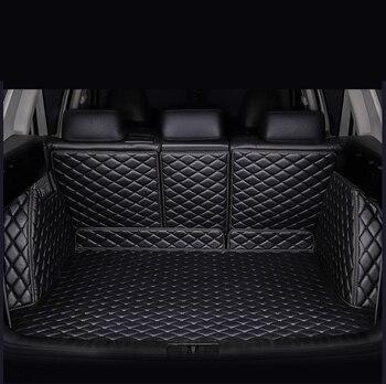 HeXinYan Custom Car Trunk Mats for Mercedes Benz all models C ML GLA CLA R A B GLE GL GLS GLC class car accessories styling
