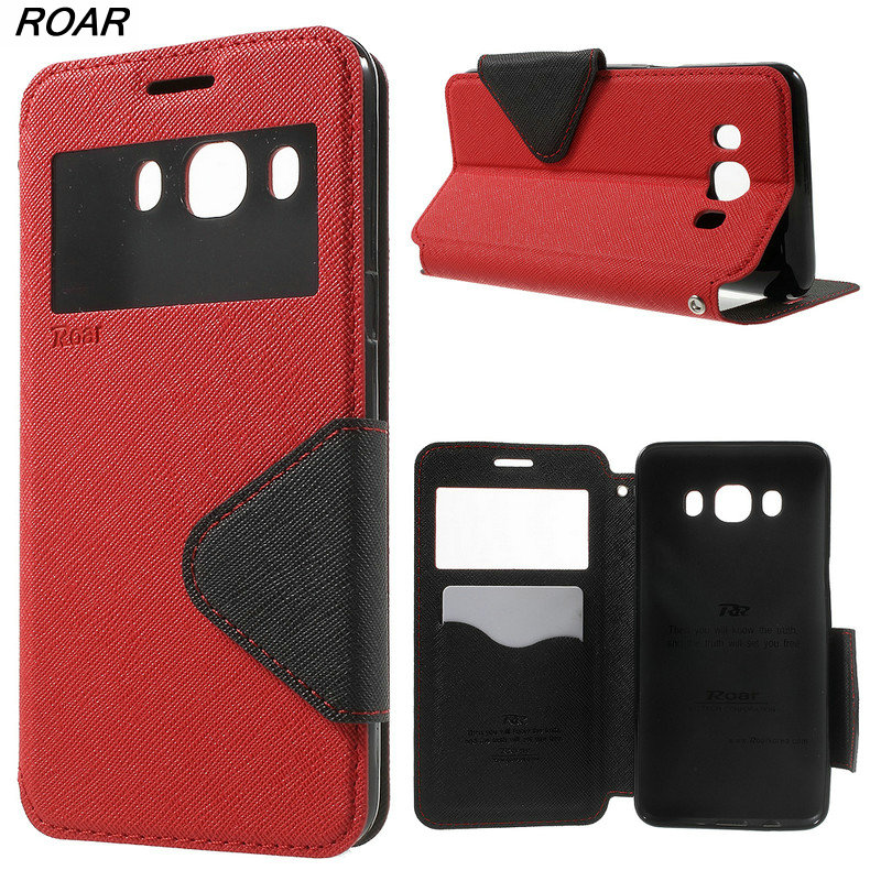 Galleria fotografica For Samsung Galaxy J5 2016 Case Original ROAR KOREA Card Holder Leather View Window Cover Case for Samsung Galaxy J5 2016 J510