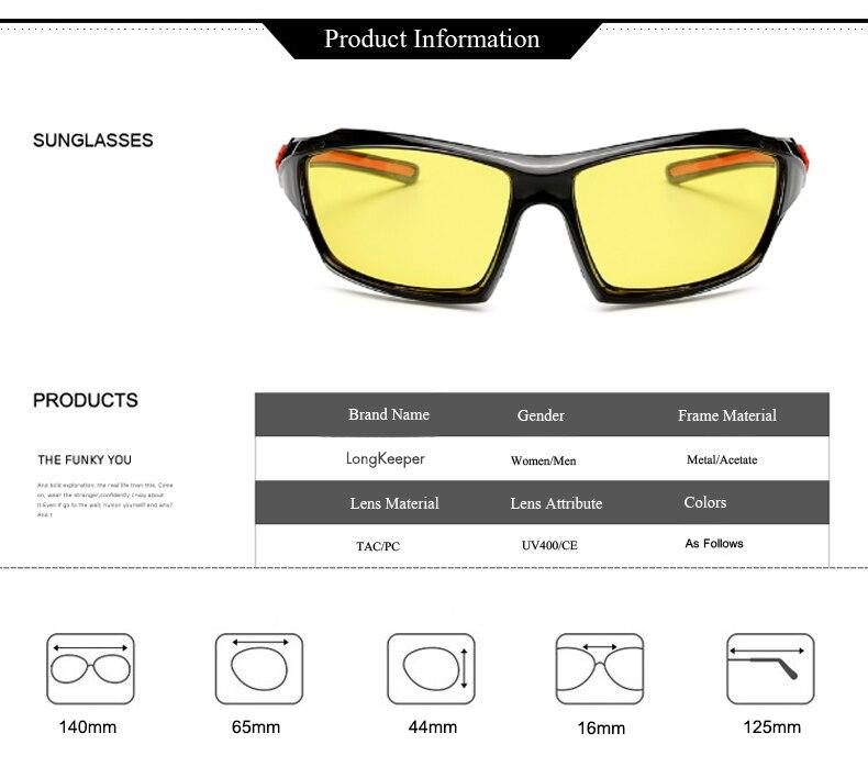 4b30a6d91a LongKeeper Men Polarized Night Driving Sunglasses Women Brand Designer  Yellow Lens Night Vision Glasses Goggles Reduce