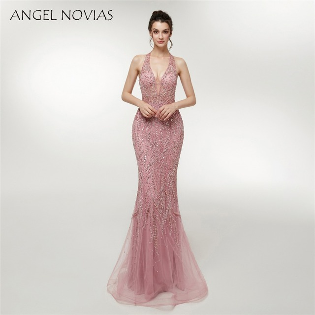 ANGEL-NOVIAS-Abendkleider-Long-Formal-Ha