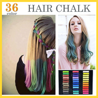 36 Colors Brief Paragraph Hair Chalk Fashion Color Hair Chalk Dye Pastels Temporary Pastel Hair Extension